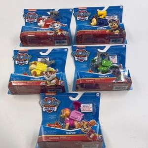 New lot of 5 Paw Patrol Talking Pups Action Figure
